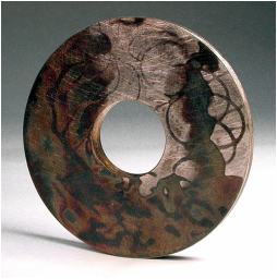 Round Stained Brooch