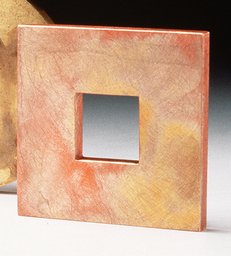 Square Stained Brooch