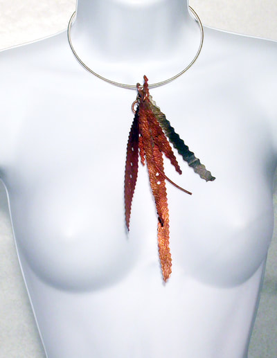 fat feather necklace