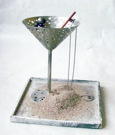 martini dry set with tray