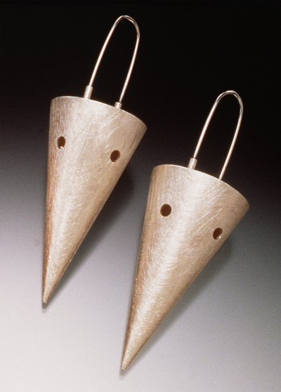 big cone sterling silver earrings