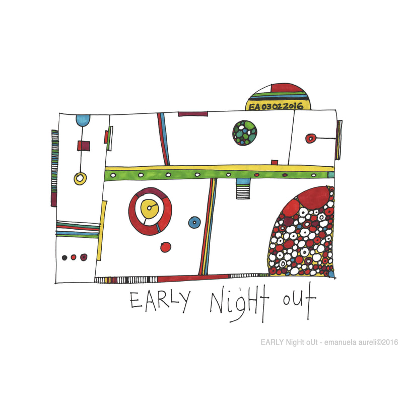EARLY NigHt oUt - colored markers on paper